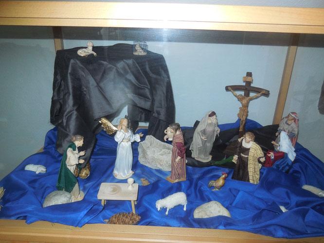 Osterkrippe in der Kapelle des Caritas Seniorenheimes St. Nikolaus Spalt