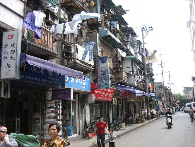 In den Straßen von Shanghai