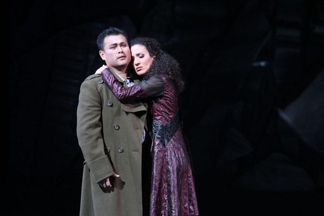 Kejia Xiong (Edgardo), Cristina Piccardi (Lucia), Foto: Klaus Lefebrve