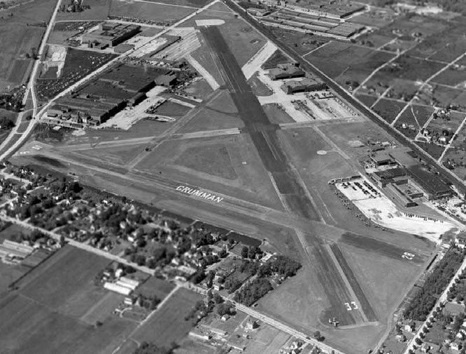 Grumman Bethpage Airfield and hangars - (C) Paul Freeman
