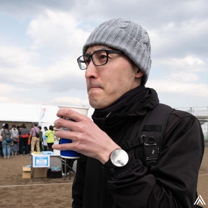 ビールがうまい。フルマラソン完走が感慨深い。
