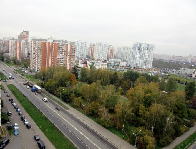 Район старой Некрасовки. Вид на микрорайон Красная горка Люберцы.