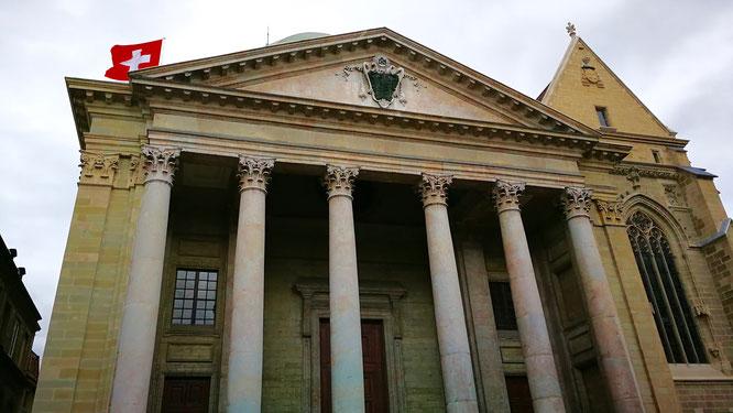 (с) Дамир Байманов. Женевский собор — одна из первых церквей кальвинизма, с 1535 года Собор Святого Петра является реформаторским.