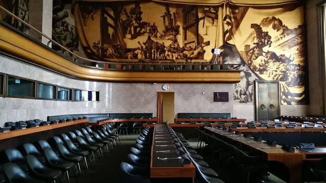 Зал, в котором проходят Женевские переговоры по Сирии.