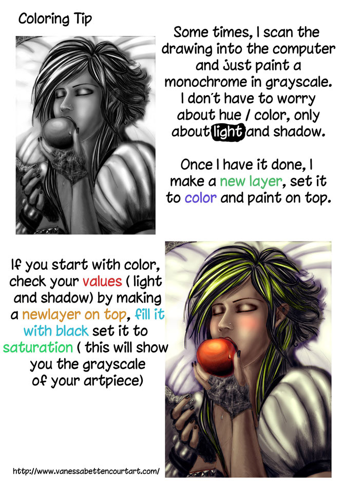 coloringtip digitalpaintingtip digitialpainting tutorialdigitalpainting checkvaluestiptutorial