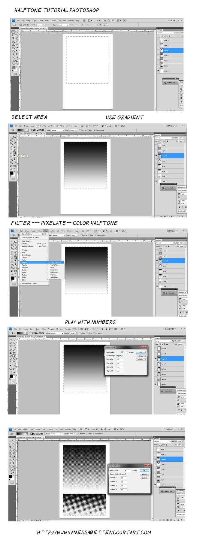 half tone color tutorial comic book halftone tutorial halftone photoshop easy tutorial gradient comic page