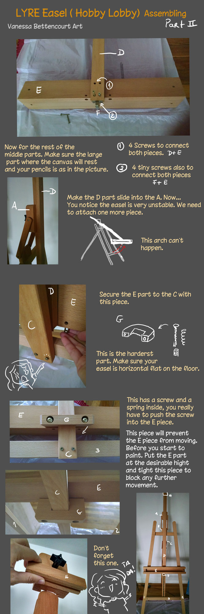 tutorial fineart traditional art lyre easel assembling hobbylobby lyre tutorial  easel lyre assembling easel LYRE studio setup  easel traditional