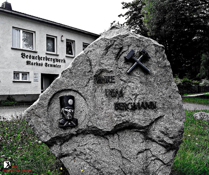 Das Bergbaudenkmal in Bad Schlema am Markus Semmler Stollen Schacht 15 II