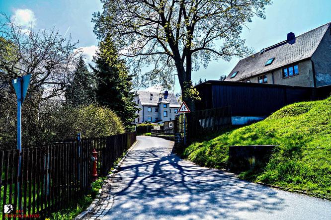 Am Ende des Kirchsteiges an der Lindenauer Straße