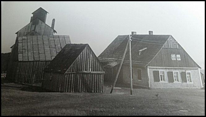 Treibehaus mit Pferdegöpel