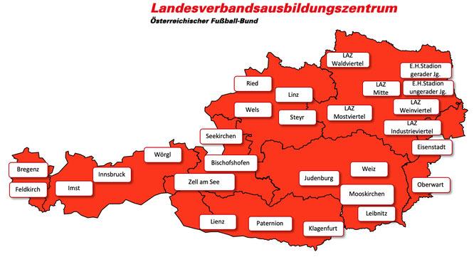 LAZ Standorte in Österreich