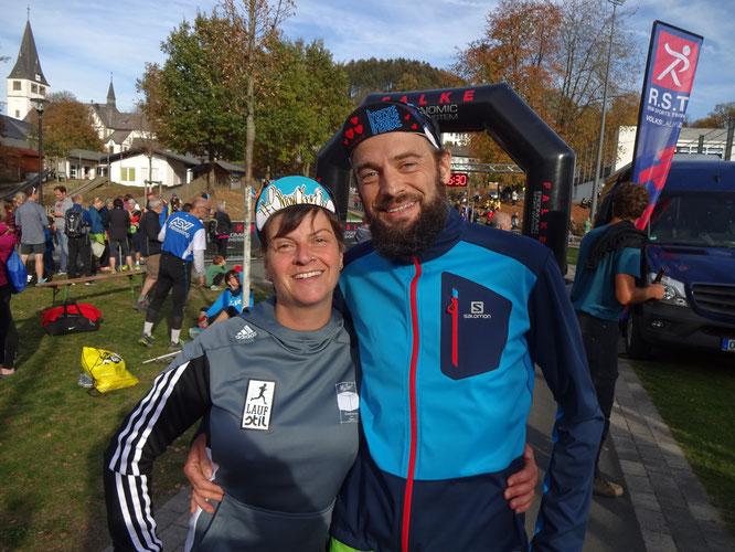 Glücklich nach dem Rennen: Angela und Stefan Müller