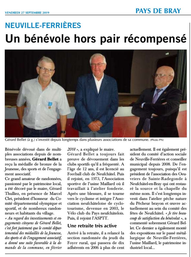 Journal Paris-Normandie du 27 septembre 2019