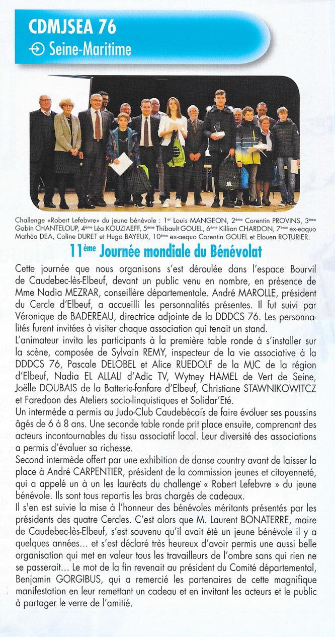 REVUE NATIONALE DE NOTRE FÉDÉRATION, juillet 2019