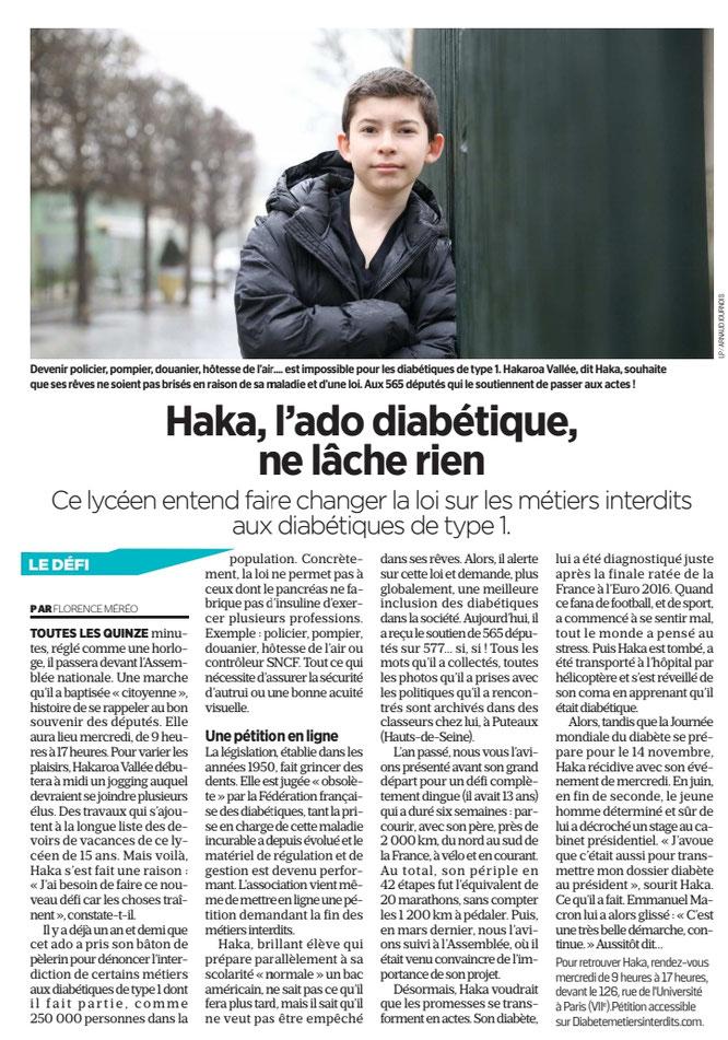 Journal AUJOURD'HUI en FRANCE du 28 octobre 2019