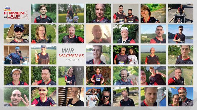 Jeder für sich und doch nicht allein: Viele URANO-Kolleginnen und -Kollegen schickten Selfies von ihrem persönlichen Virtual Run. Collage: Thorsten Gräber/Team Marketing