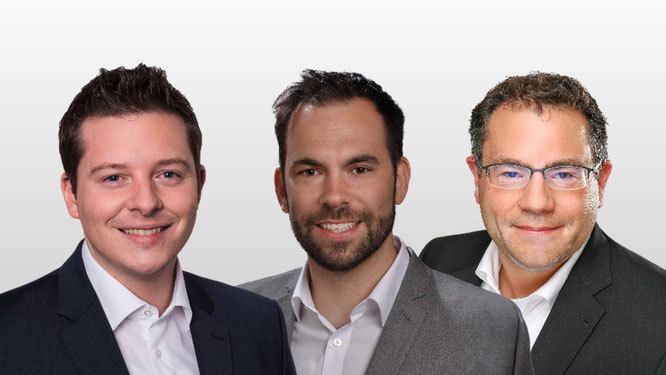 Die operative Geschäftsleitung: Sebastian Schmalenbach, Sebastian Klein und Felix Hirschberger