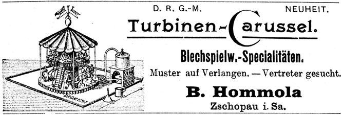 Turbinen-Carussel Hommola Zschopau