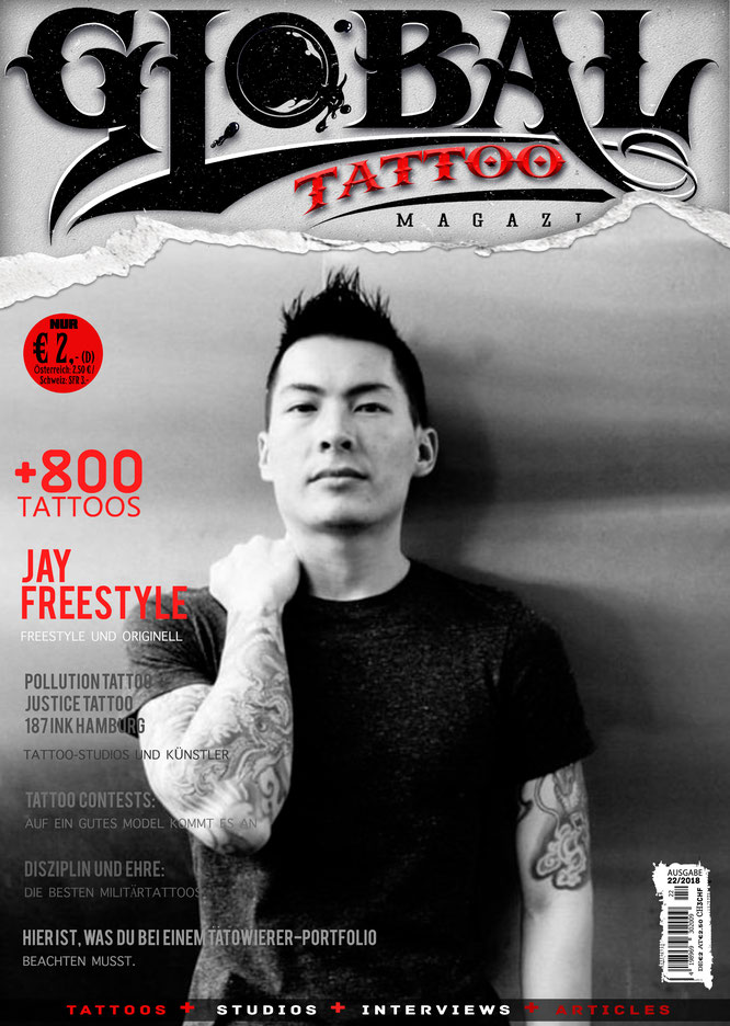 tattoo, studios, interviews Jay Freestyle, tattoo magazine
