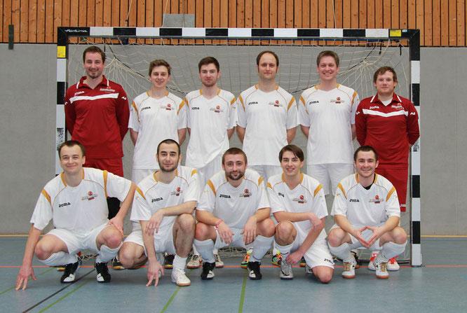 Das Testspielteam: (hinten v.l.) Berger, Henneken, Hachmann, Bonnekamp, Gött, Wehling; (vorne v.l.) Avtyenyev, Payzulaev, Valchev, Domurath, Avtieniev. (Foto: Galkova)