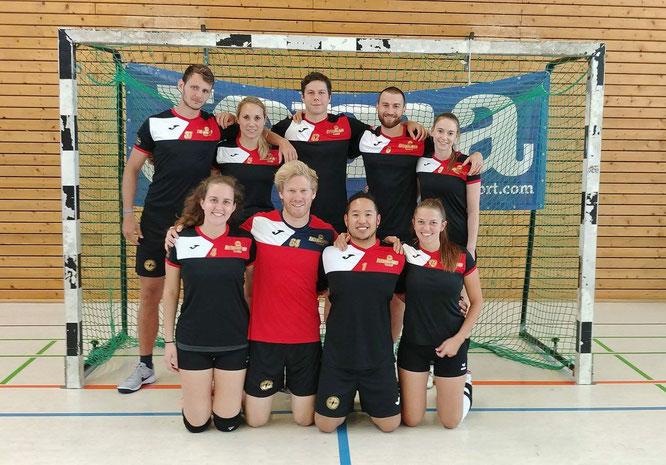 Das Schmetterlicious Mixed-Team beim Saisonauftakt in Essen (Foto: Gött)