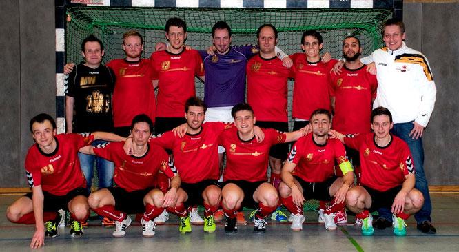 """""""Futsalicious Essen I"""" - hier noch in der Konstellation vom FVN Futsal-Niederrheinpokalfinale im Dezember 2013 (Foto: Danail Vazov)"""