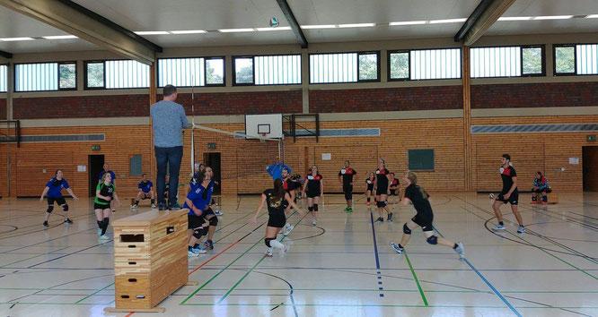 Ein harter Brocken war die Partie gegen GerSki United, dem allerersten Volleyball-Ligaspiel unserer Vereinsgeschichte (Foto: Gött)