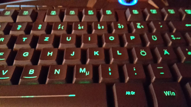 CSL USB Gaming Tastatur mit Beleuchtung