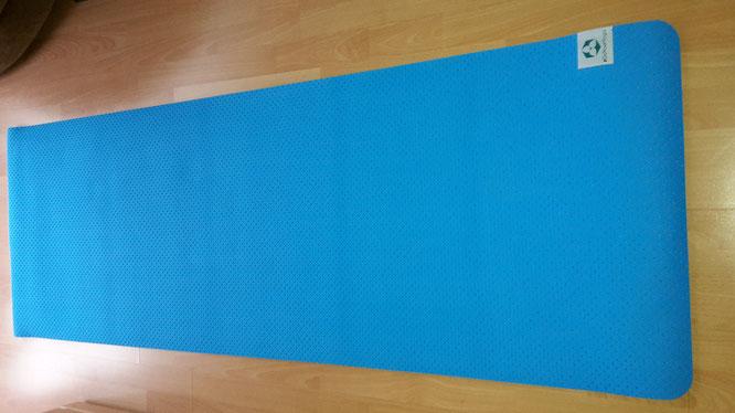 Yogamatte ausgerollt