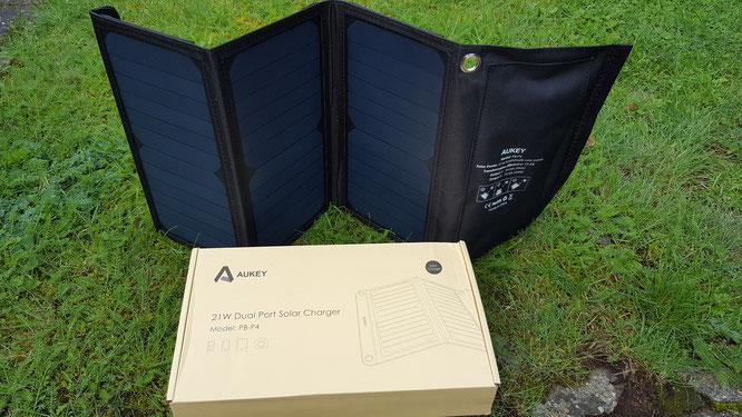 Aukey Solar-Ladegerät