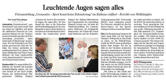 Bericht aus der Heilbronner Stimme