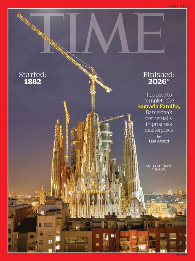 Храм Святого Семейства на обложке журнала Тайм