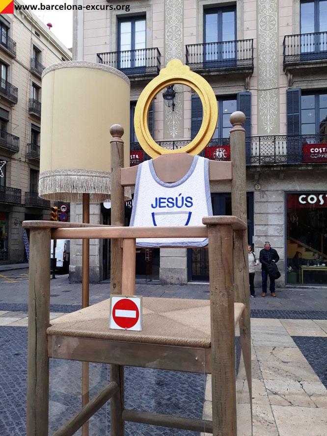 Площадь Святого Якова, Барселона. Рождественский вертеп.
