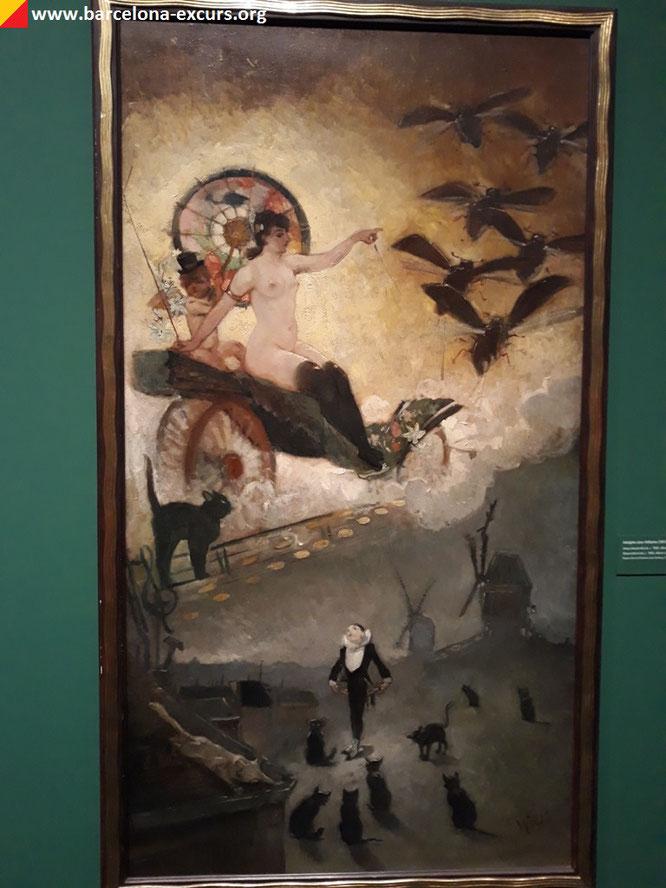 "Выставка ""Тулуз-Лотрек и дух Монмартра"" в Барселоне."