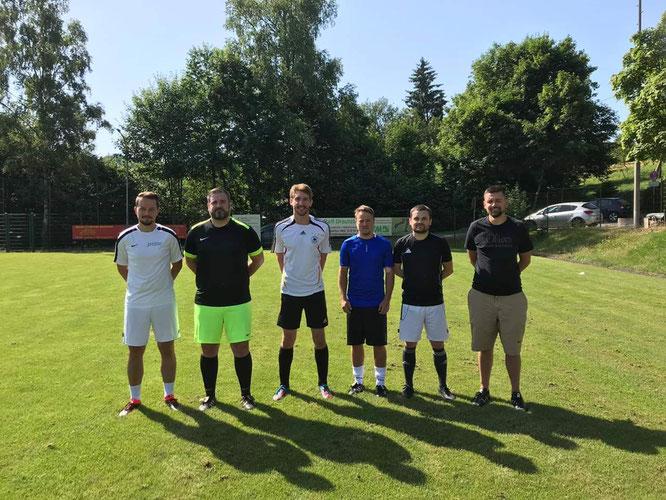 von links:  Julian Scheid, Florian Gerhard, Jonas Jakubik, Christoph Demuth, Kai Schäfer, Marco Wirbel.