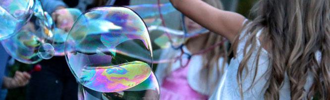 Riesenseifenblasen, Seifenblasen