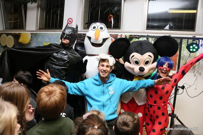 mascotte feste bambini roma