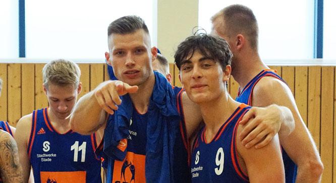 Sorgen für gute Stimmung im Team: Die Neuzugänge Wojciech Rogacewicz und Damian Cortes Rey. (Foto: Fromme)