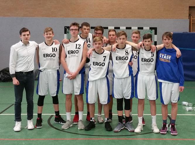Brachten die favorisierten Weser Baskets ins Wanken, nicht aber zum Fallen. Die U16-Landesligabasketballer mussten nach drei Siegen in Folge eine knappe 60:65-Niederlage hinnehmen.