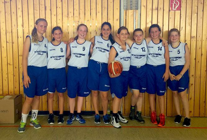 Unsere U15-Mädchen sind die ersten Gewinner des neu aufgelegten Bezirksjugendpokals. (Foto: Fromme)