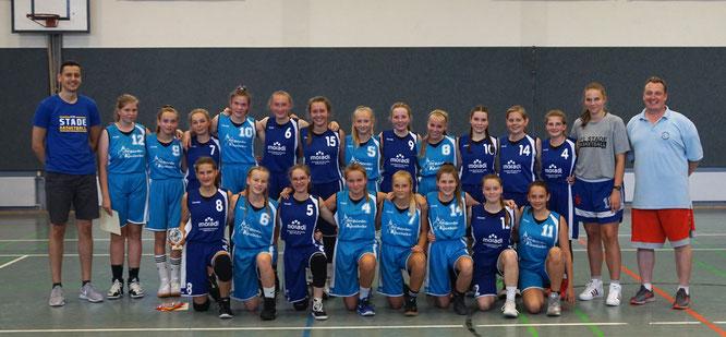 Basketball-Familien rücken zusammen: VfL Stade und TSV Lamstedt kooperieren seit dieser Saison in der weiblichen Jugend und freuen sich auf den Erfahrungsaustausch. (Foto: Abdalla)