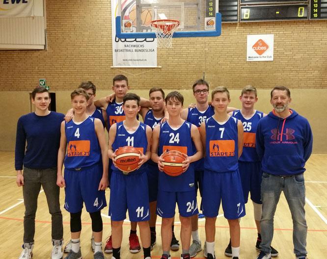 Unsere mU16-Landesliga-Mannschaft um ihr Trainerduo Dario Wagner und Nenad Brisevac konnte in Oldenburg den zweiten Sieg in Folge einfahren.
