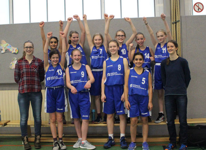 Freuten sich über den Sieg und die Qualifikation für die Landesmeisterschaften am 5./6. Mai. (Foto: Höper)