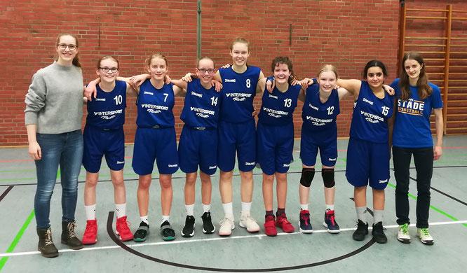 Fünf Siege aus fünf Spielen bescheren den wU14 I-Mädchen die Tabellenführung der Bezirksliga.