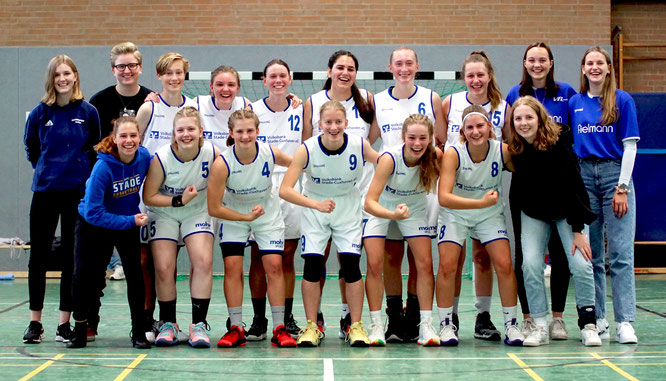 Die wU18 siegte im Derby gegen den TSV Lamstedt mit 89:44. (Foto: Fromme)
