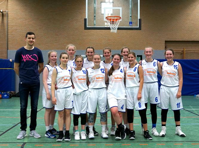 Haben zum ersten Mal gegen eine Zonenverteidigung gewinnen können: Die U18-Mädels. (Foto: Fromme)