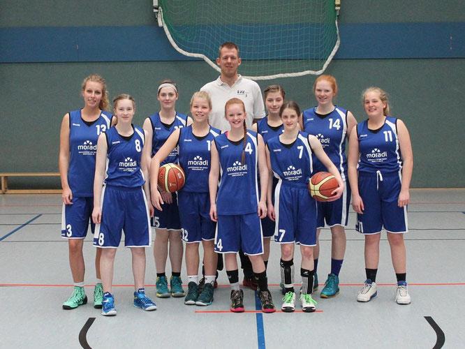 Schlugen sich wacker: Die U19-Mädchen vom VfL Stade Basketball. Foto: TSV Lamstedt