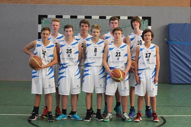 Die U16-Mannschaft in ihren neuen Trikots. (Foto: Both)