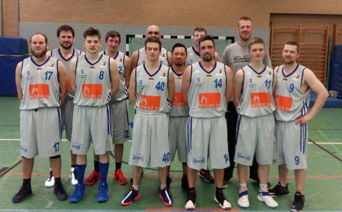 Steigerten sich im Vergleich zur Vorsaison: Die 2. Herren des VfL Stade Basketball.