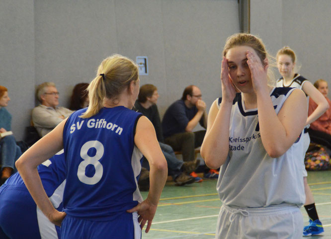 Es war häufig zum Wegsehen bei der 39:72-Niederlage der Damen gegen den Mitaufsteiger SV Gifhorn. (Foto: Moradi)